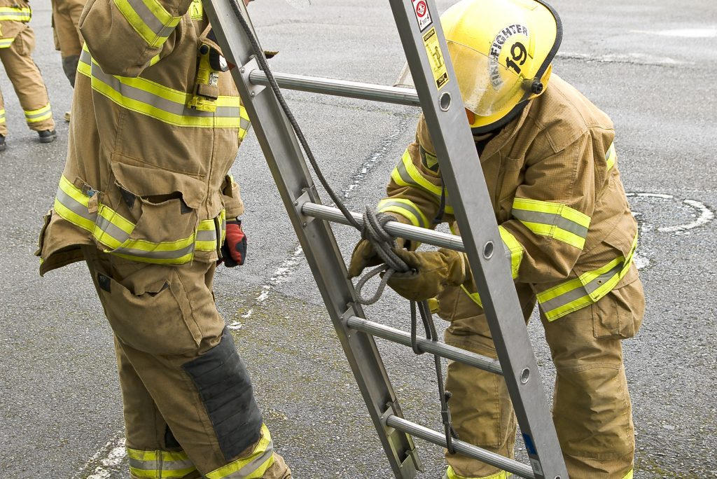 Fire Fighters with ladder